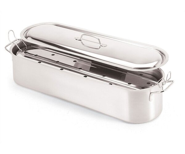 23 5/8'' Stainless Steel Fish Poacher by Paderno World Cuisine