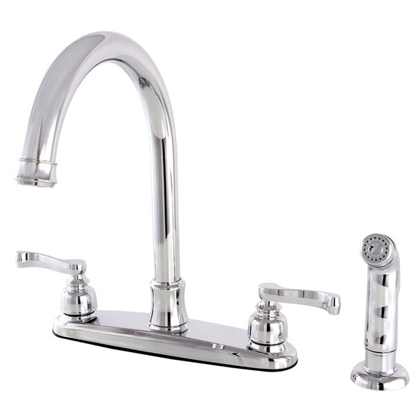Royale Double Handle Kitchen Faucet with Side Spray by Kingston Brass
