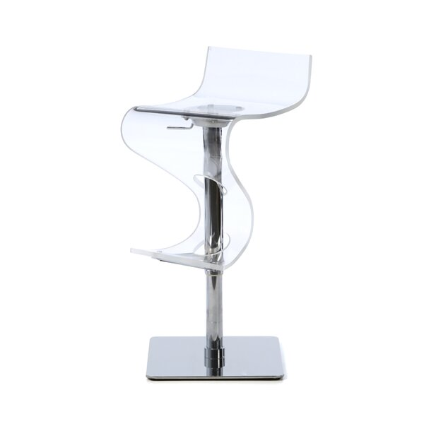 Anthony Adjustable Height Swivel Bar Stool by Wade Logan