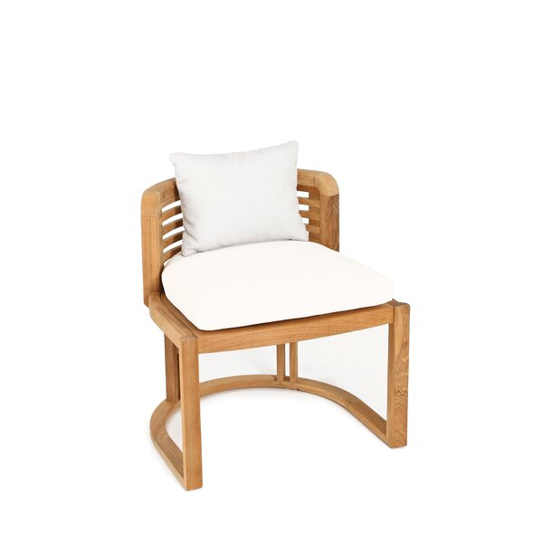 Hamilton Teak Patio Dining Chair with Cushion by OASIQ