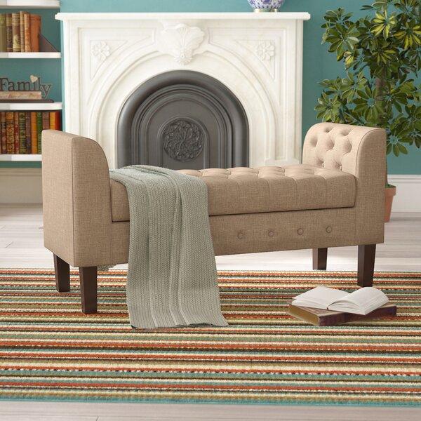 New Ashford Upholstered Storage Bench by Charlton Home Charlton Home