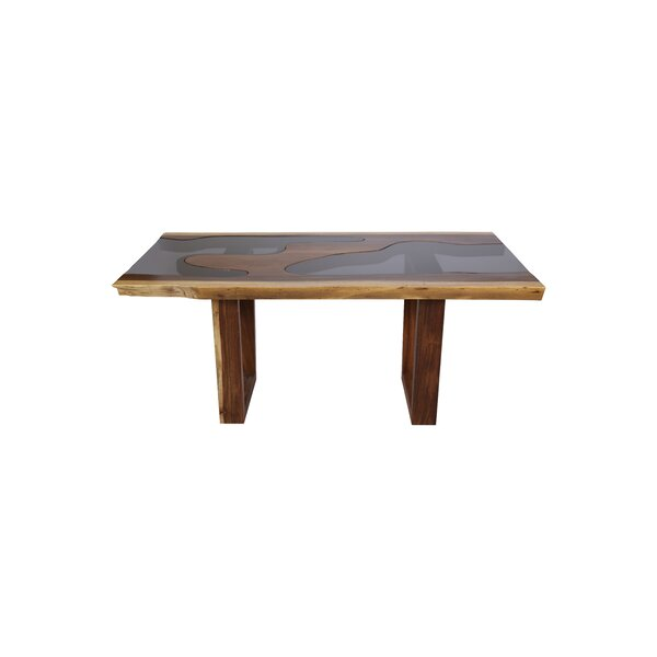 Isabell Live Edge Solid Wood Dining Table by Loon Peak