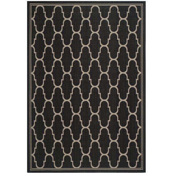 Altona Black/Beige Indoor/Outdoor Area Rug by Charlton Home