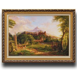 The Departure' by Thomas Cole Framed Painting by Greenville Signature