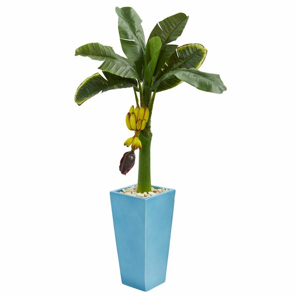 Artificial Banana Leaf Tree in Planter by Latitude Run