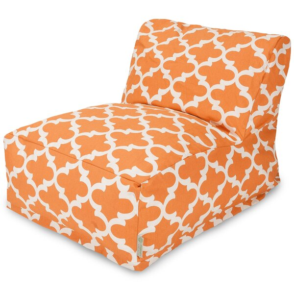 Cashwell Geometric Cotton Bean Bag Lounger by Andover Mills