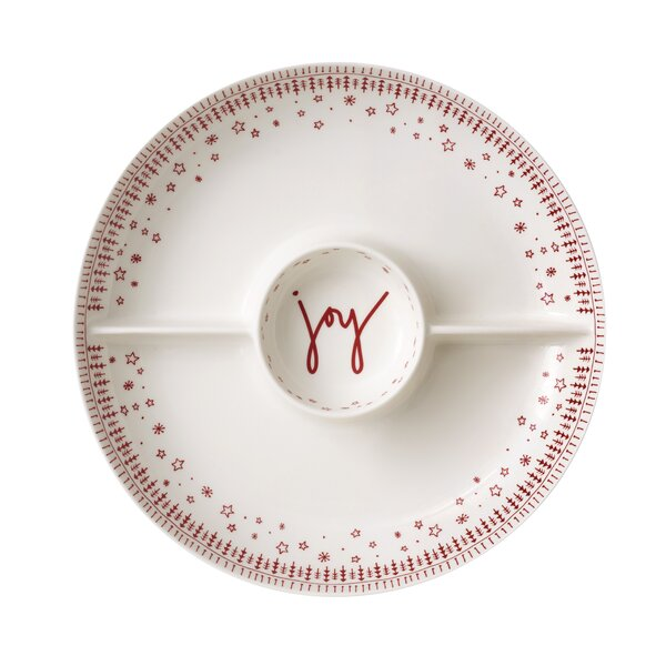 Holiday 3-Section Divided Serving Dish by ED Ellen DeGeneres Crafted by Royal Doulton