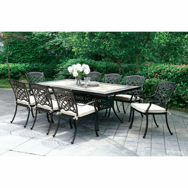Cayuga Patio 9 Piece Dining Set with Cushions by Canora Grey