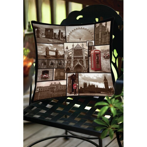 England Indoor/Outdoor Throw Pillow by Manual Woodworkers & Weavers