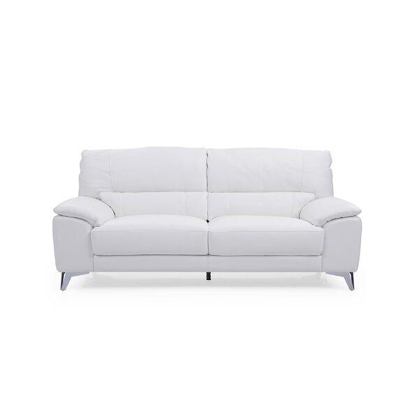 Podington Leather Sofa by Orren Ellis