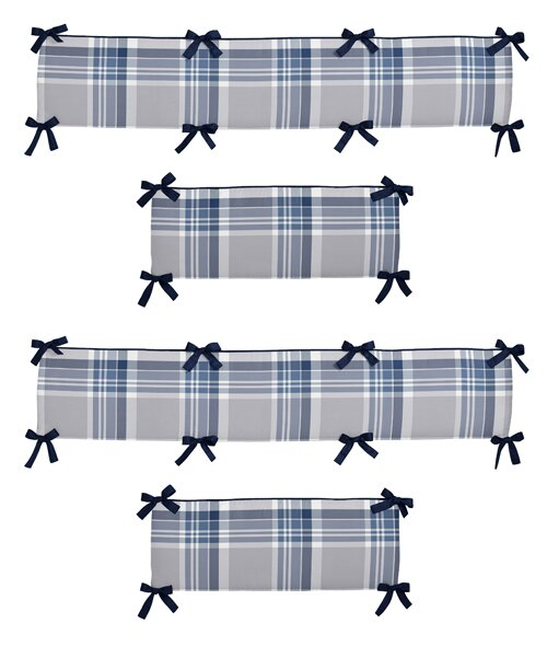 Plaid Crib Bumper by Sweet Jojo Designs