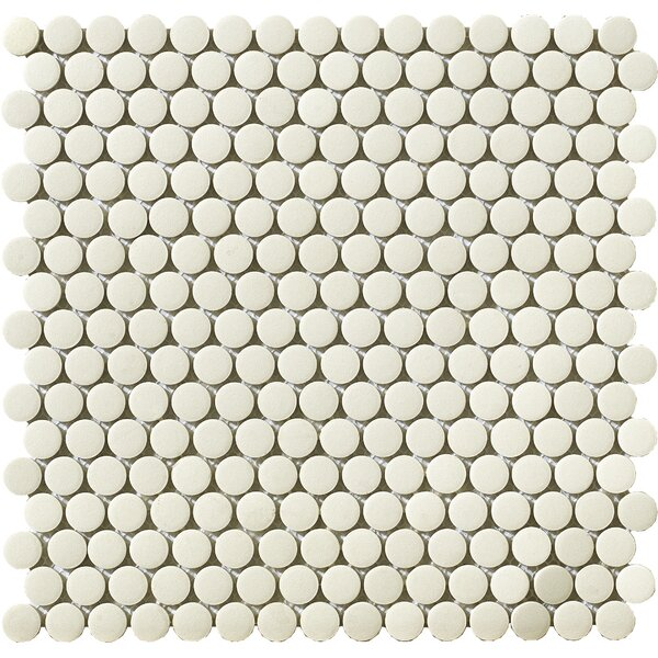 Urban 0.75 x 0.75 Porcelain Mosaic Tile in Off-White Penny by Walkon Tile
