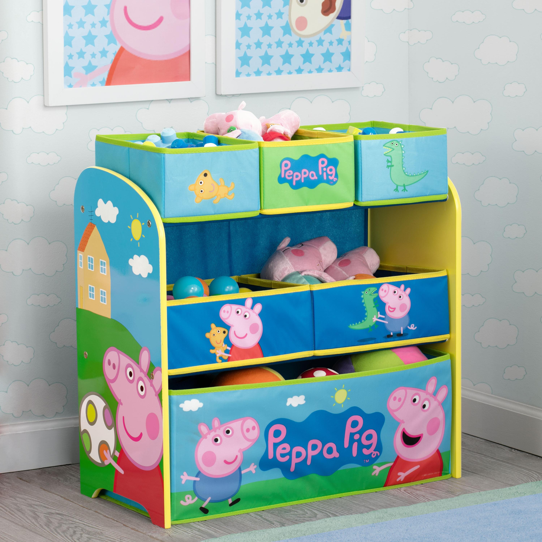 Delta Children Peppa Pig Multi-Bin Toy Organizer | Wayfair
