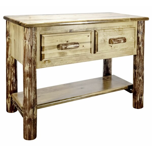Abella 42-inch Solid Wood Console Table by Loon Peak Loon Peak