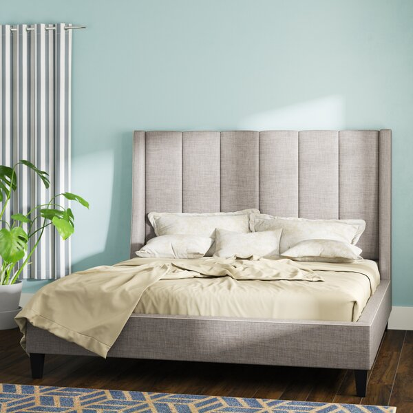 Odina Upholstered Platform Bed by Wade Logan