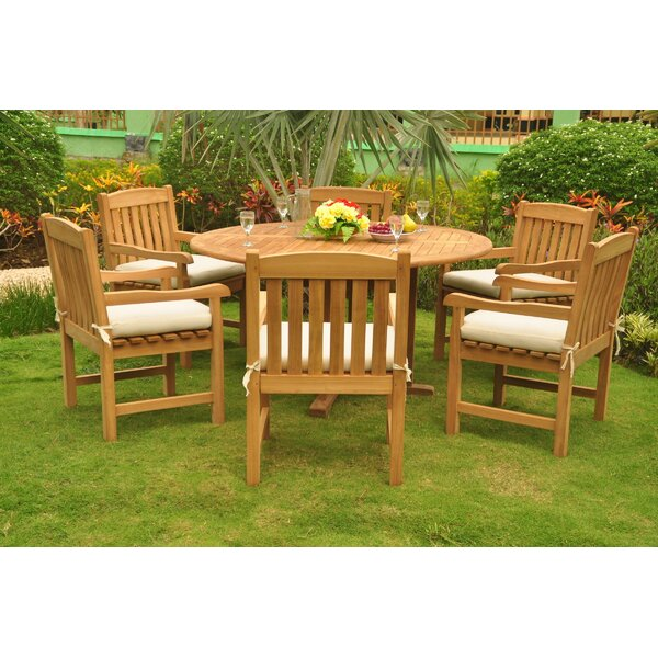 Alondra Luxurious 7 Piece Teak Dining Set by Rosecliff Heights