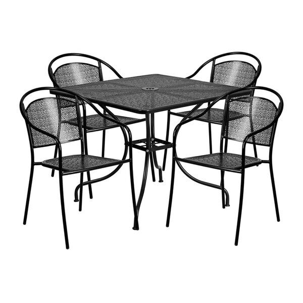Elora Outdoor Steel 5 Piece Dining Set by Ebern Designs