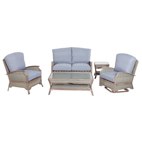 Elsmere 5 Piece Sofa Set with Cushions by Rattan Outdoor Furniture