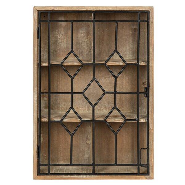 Moonya Wooden Hanging Curio Cabinet Wall Shelf by Gracie Oaks