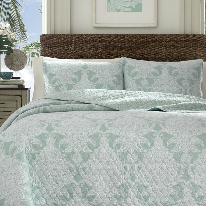 Pineapple Cape Harbor Reversible Quilt Set By Tommy Bahama