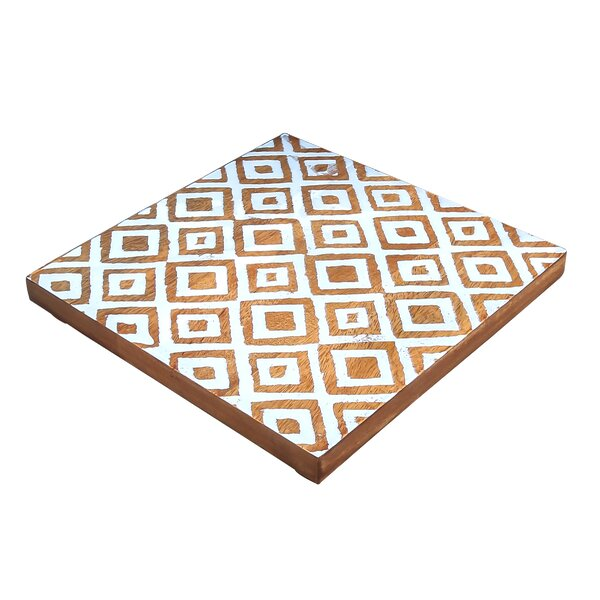 Emmaus Mango Wood Tribal Trivet by World Menagerie