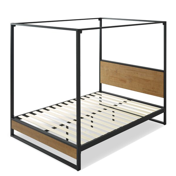 Zinus Suzanne Canopy Bed by Union Rustic