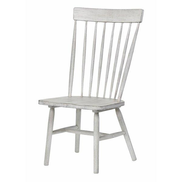 Atharv Slat Back Side Chair in Gray (Set of 2) by Gracie Oaks Gracie Oaks