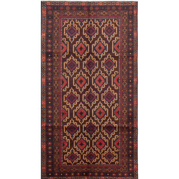 One-of-a-Kind Mcdorman Hand-Knotted Red/Brown Area Rug by Bloomsbury Market