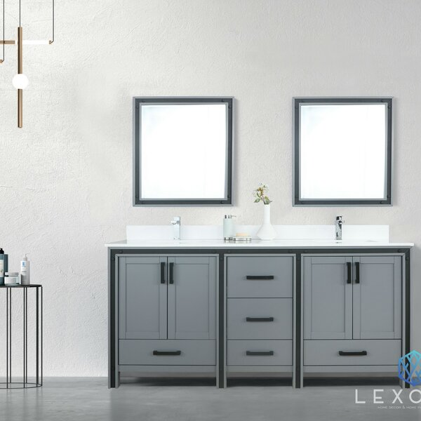 Aweis 72 Double Bathroom Vanity Set with Mirror