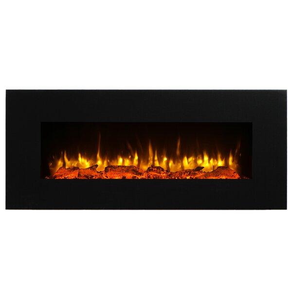 Kreiner Wall Mounted Flat Panel Electric Fireplace Insert by Orren Ellis