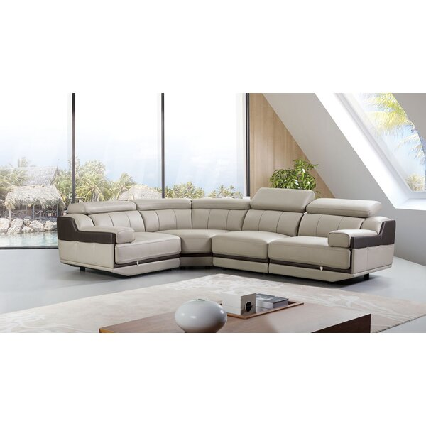 Vidal Leather Sectional by Latitude Run