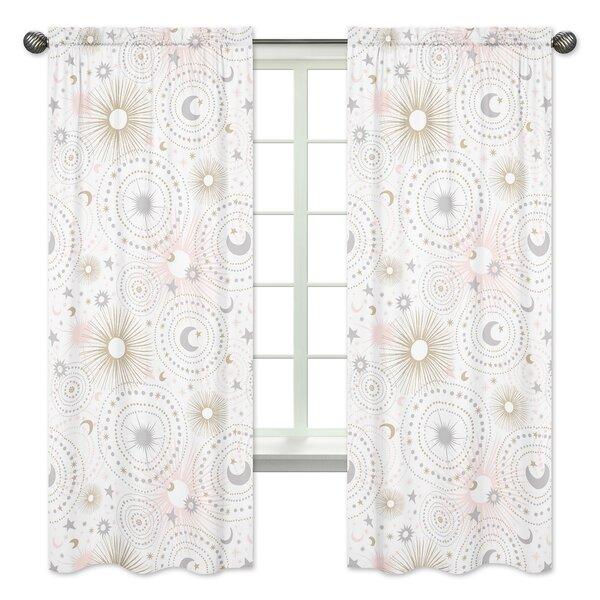 Celestial Rod Pocket Window Curtain Panels (Set of 2) by Sweet Jojo Designs