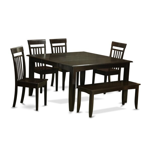 Pilning 6 Piece Dining Set with Rectangular Table Top by August Grove
