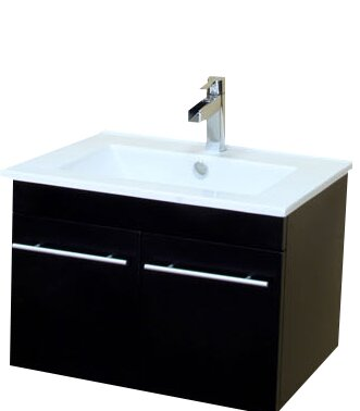 Fairfax 25 Single Wall-Mounted Bathroom Vanity Set by Bellaterra Home