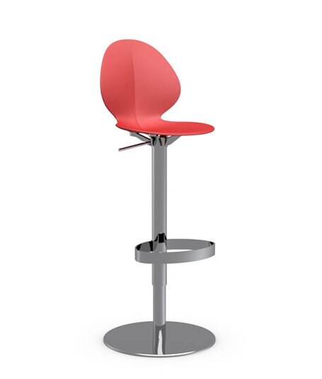 Basil Adjustable Height Swivel Bar Stool by Calligaris