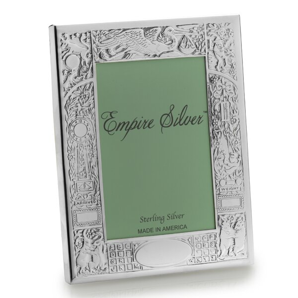 Birth Record Pewter Picture Frame by Empire Silver