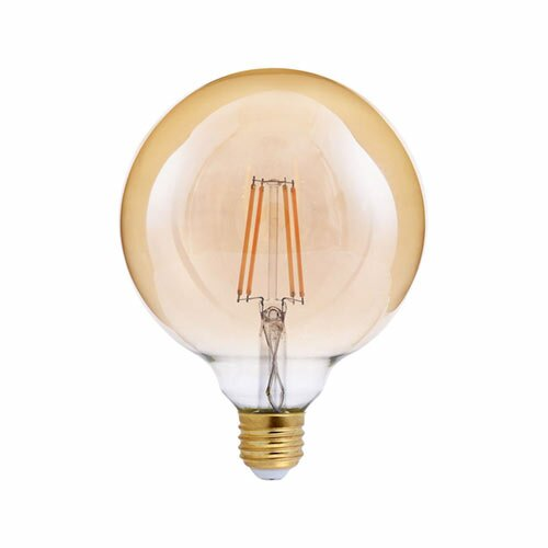40W Equivalent Amber E26 LED Globe Edison Light Bulb by TriGlow
