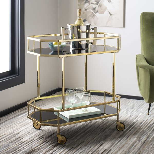 Beaminster Octagon Bar Cart by Everly Quinn Everly Quinn