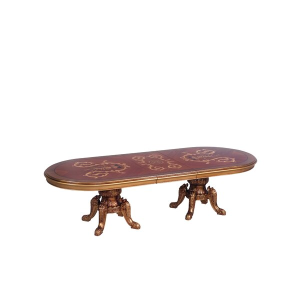 Phaidra Extendable Solid Wood Dining Table by Astoria Grand Astoria Grand