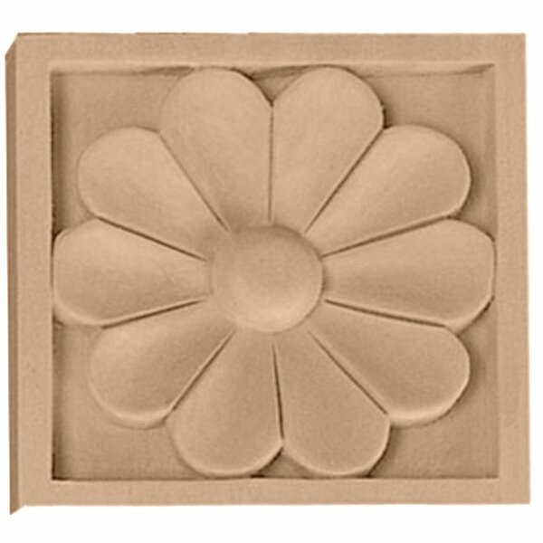 Medway 5 1/8H x 5 1/8W x 1D Large Rosette by Ekena Millwork
