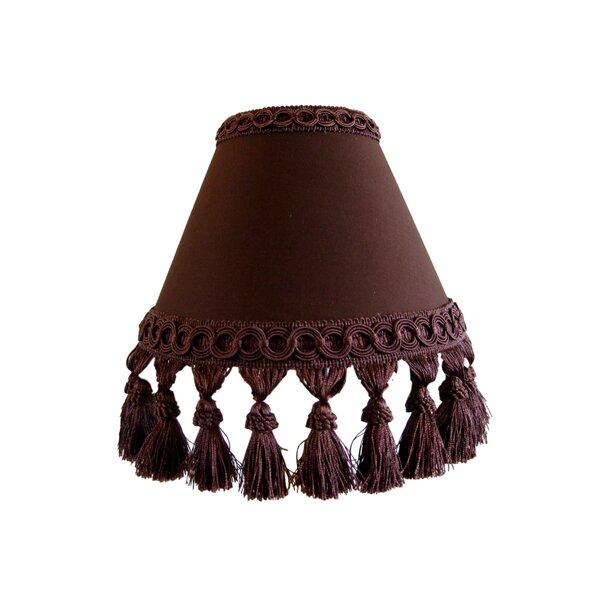 Fudge Swirl Sundae 7 H Fabric Empire Lamp shade ( Screw on ) in Brown