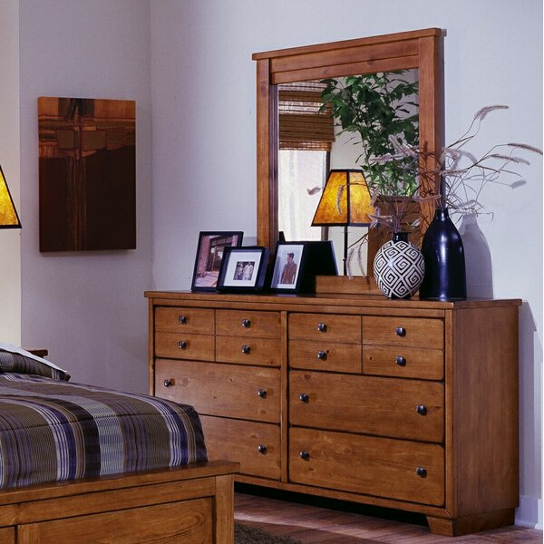 Chinn Casual 6 Drawer Double Dresser with Mirror by Winston Porter