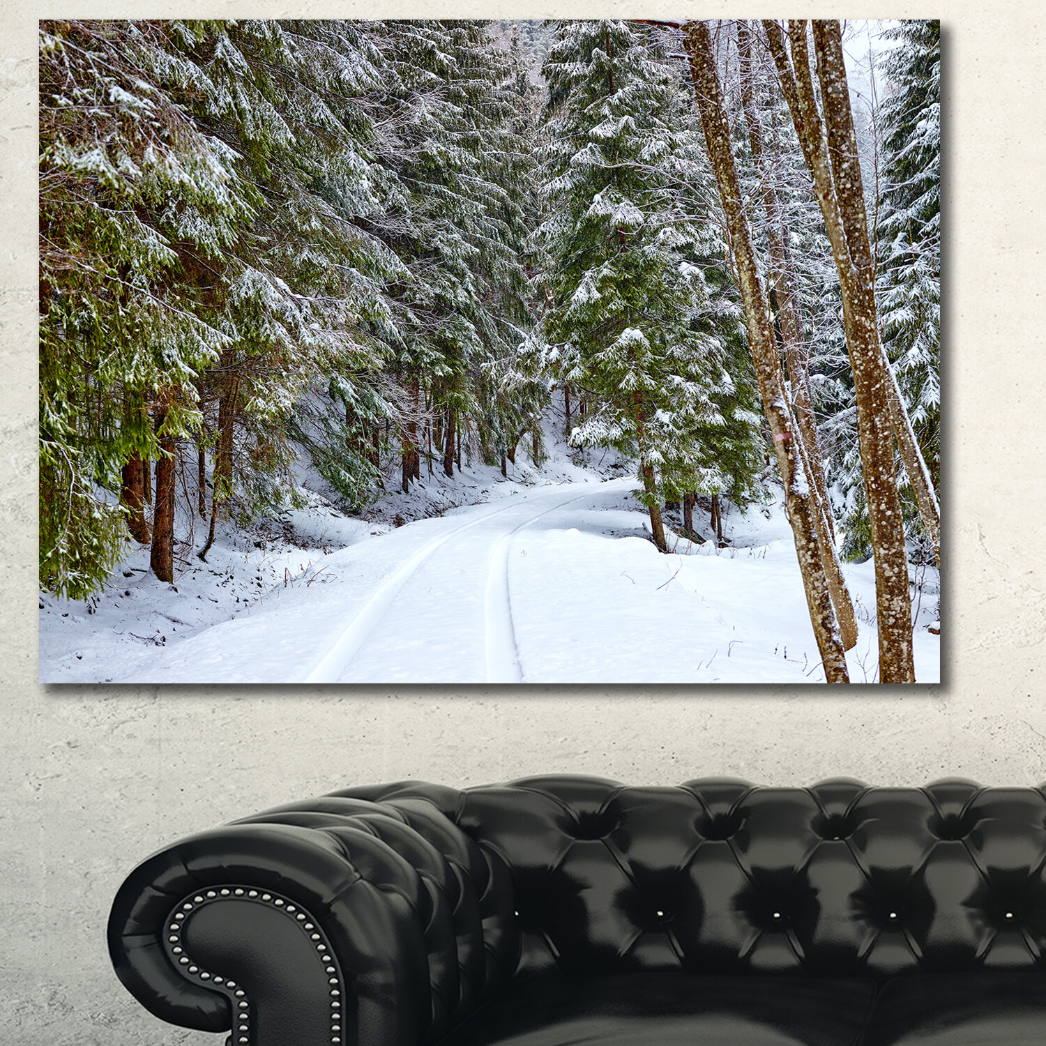 Winter Cabin CANVAS PRINT Wall Decor Art Giclee Nature Forest Snow 4 Sizes