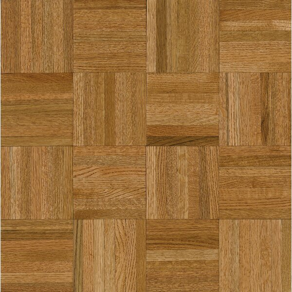 Millwork 12 Solid Oak Parquet Hardwood Flooring in Warm Caramel by Armstrong Flooring