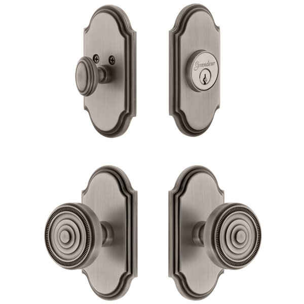 Arc Single Cylinder Knob Combo Pack with Soleil Knob by Grandeur