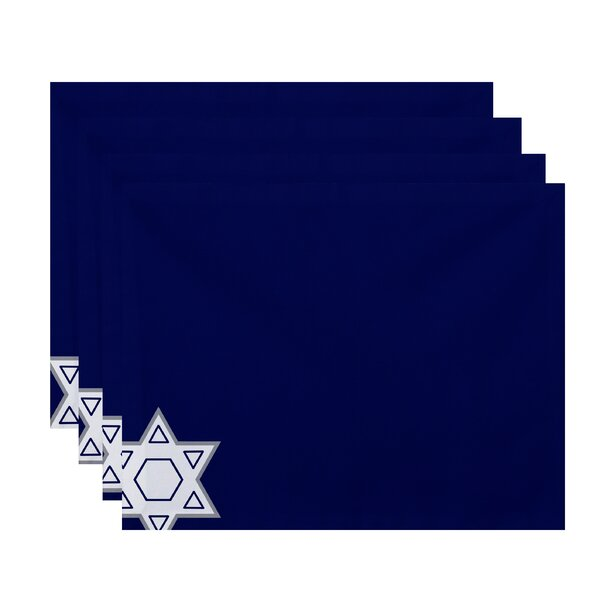 Star of David Holiday Stripe Print Placemat (Set of 4) by The Holiday Aisle
