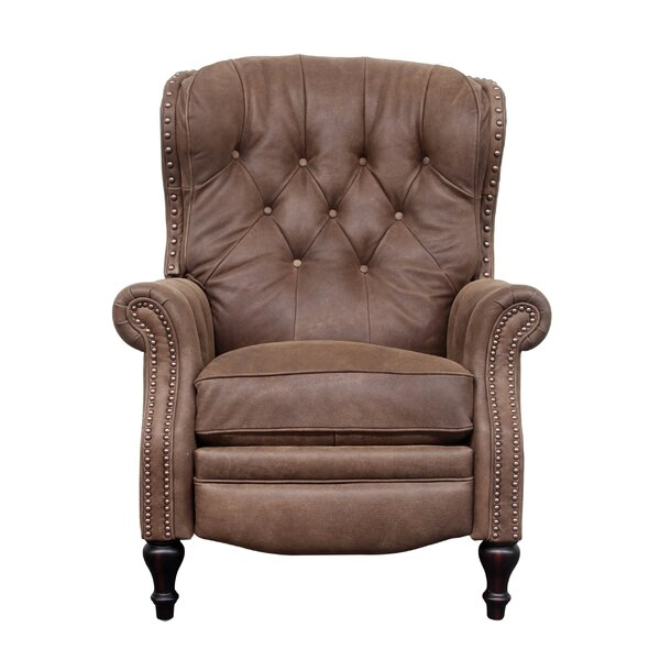 Lavoie Leather Manual Recliner By Darby Home Co