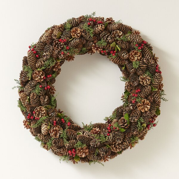 Gathered Pinecones Wreath by Birch Lane™