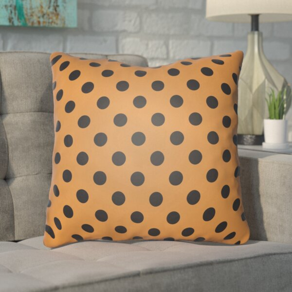Phi Halloween Polkadots Indoor/Outdoor Throw Pillow by Mercury Row