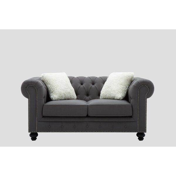 Purchase Online Howie Chesterfield Loveseat by Alcott Hill by Alcott Hill
